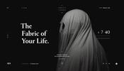 背景全面をシェーダによってインタラクティブに演出! とある幽霊をテーマにした映画のティザーサイト