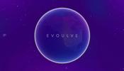 リムライティングと後光のようなエフェクト表現でとても美しい地球を表現している Evoulve のウェブサイト