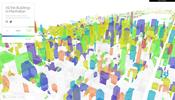 マンハッタンの街並みを独自の WebGL 実装で可視化したビジュアライズ作品 All the Buildings in Manhattan