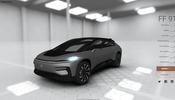 アメリカの EV 自動車メーカー Faraday Future の FF 91 をじっくり堪能できる WebGL 製ビューア