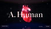 ブルームやノーマルマップ、パーティクルなどを駆使した高品質なシーンを楽しめる A. Human のウェブサイト