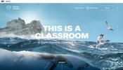 2D 表現を上手に拡張し立体的な表現を行いつつ 3D も惜しげもなく利用した Ocean School のウェブサイト