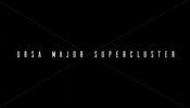 黒い背景に独特なマスク処理やインタラクションが面白い! Ursa Major Supercluster のウェブサイト