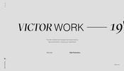 シンプルな演出ながらインタラクティブ性の高い動きのあるデザインが面白い Victor Costa さんのポートフォリオ