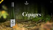 シーンごとに全く異なる雰囲気を持つ空間を華麗に演出! フランスのワイナリーの美しいウェブサイト