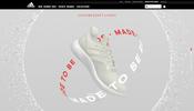 WebGL 実装の常連 adidas UK! 今回は再利用できる素材を利用した新しいシューズの特設ページ