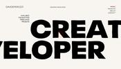 こだわりの演出がたくさん盛り込まれたドイツのクリエイティブ・デベロッパー Davide Perozzi さんのポートフォリオ