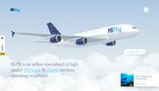 リアルなジェット機のモデルが多数登場! 航空機のウェット・リースを手がける Hi Fly のウェブサイト