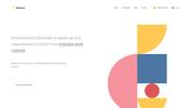 ポップなビジュアルの滑らかアニメーション! 匿名で企業についてのレビューができるサービス Kanarys のウェブサイト