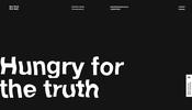 ゆらゆら揺れる文字表現などノイズを活用したエフェクトが面白い The First The Last のウェブサイト