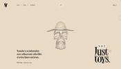 フィギュアなどのホビー製品を扱う Wannabe の一風変わった演出を多数盛り込んだ楽しいウェブサイト