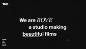 スクロール時に発生する RGB ディストーションが印象的! フランスの映像プロダクション Rove のウェブサイト
