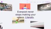 スルスルとなめらかに動く矩形オブジェクトが心地よい! 映像プロダクションサービス Everpost のウェブサイト