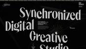 とにかくオシャレでクールなデザインが目を引くクリエイティブ・スタジオ Synchronized のウェブサイト