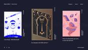 ゆらゆらと柔らかな質感のインタラクションが心地よいクリエティブスタジオ Iron Velvet のウェブサイト