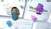 様々な 3D オブジェクトが登場しポストエフェクトも活用した Vlad Polupan さんのポートフォリオサイト