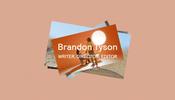シンプルな構図にちょっとした WebGL のインタラクションがステキな Brandon Tyson さんのポートフォリオ