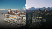 多くの高解像度な全天球画像が用意されており臨場感がハンパない! Avoriaz のウェブサイト