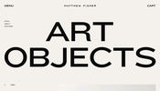 素材の魅力を損なわないデザイン・インタラクションが秀逸! NY に工房を構える Matthew Fisher のウェブサイト