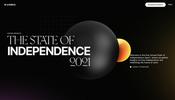金属の反射が美しくインタラクティブ性にも優れた CG が見事な The State of Independence Report 2021 が面白い