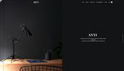 ゆったりノイズ変形エフェクトがおもしろい傘の再利用製品を扱う Anti のウェブサイト
