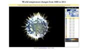 NASA のデータを利用して見せる 1880 年以降の地球の気温推移 World temperature changes