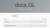 OpenGL 系 API を完全網羅したとてつもない情報量! docs.gl を活用しよう!