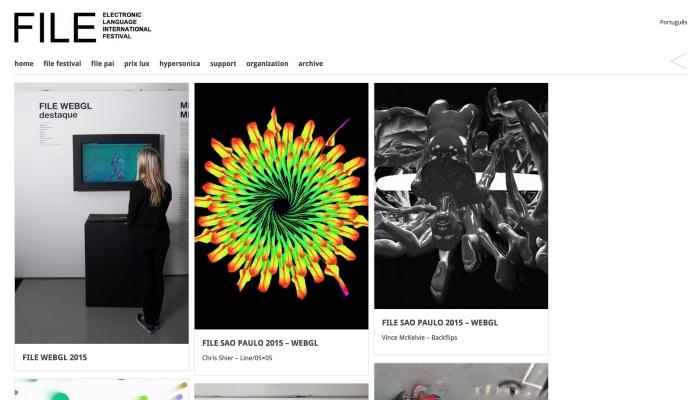 南米最大のメディアフェスティバル FILE には WebGL 部門が! ハイレベルな作品が盛りだくさん!