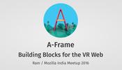 Mozilla のチームが開発していることでお馴染みの A-Frame を紹介するスライドが公開中