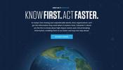 グローバルに報道機関や金融機関向けに速報アラートを提供する Dataminr のウェブサイト