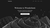 アルファベットなどを独特なライン描画を用いて表現する不思議な世界観! Wonderland のウェブサイト