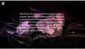 Pixi.js を利用し揺らぎエフェクトとハーフトーン調エフェクトを合成した表現が見事なポートフォリオ